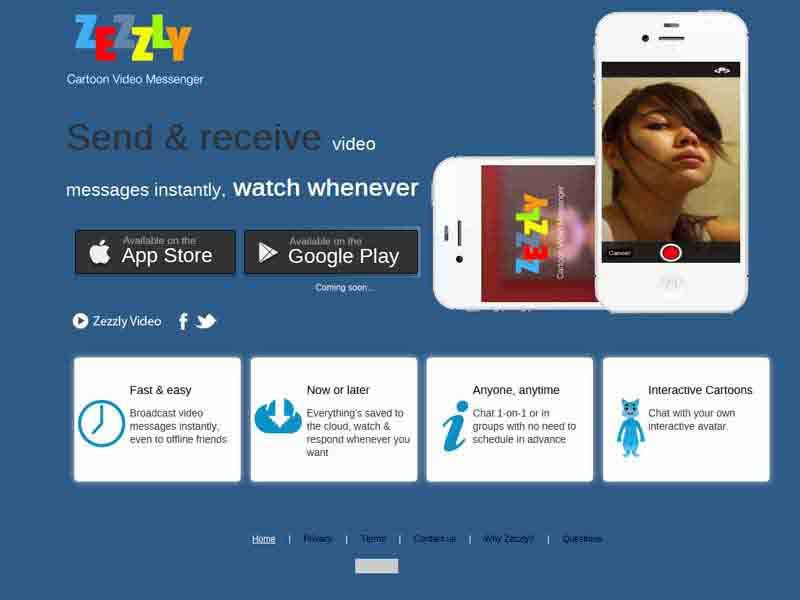 Cartoon Video Chat iPhone App – Zezzly
