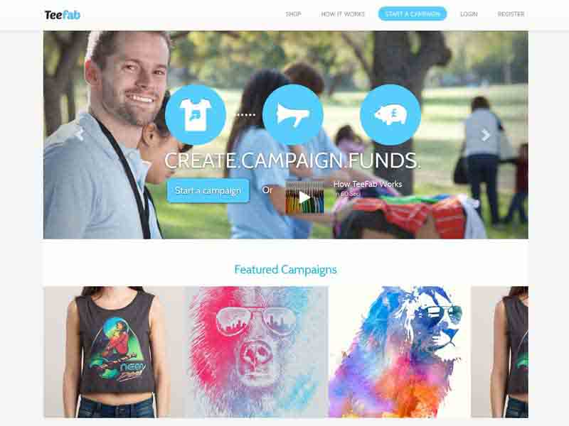Teespring Clone site with HTML 5 + JS based design tool