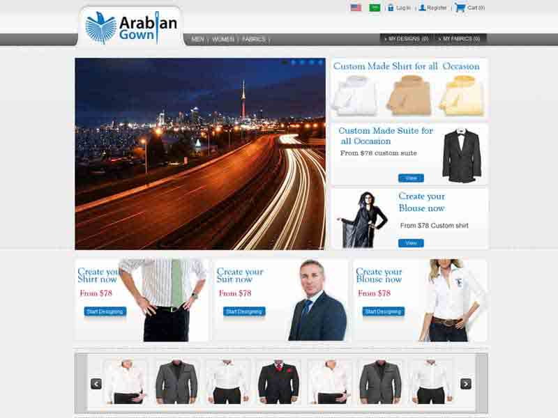 YouTailor Clone site – Arabiangown
